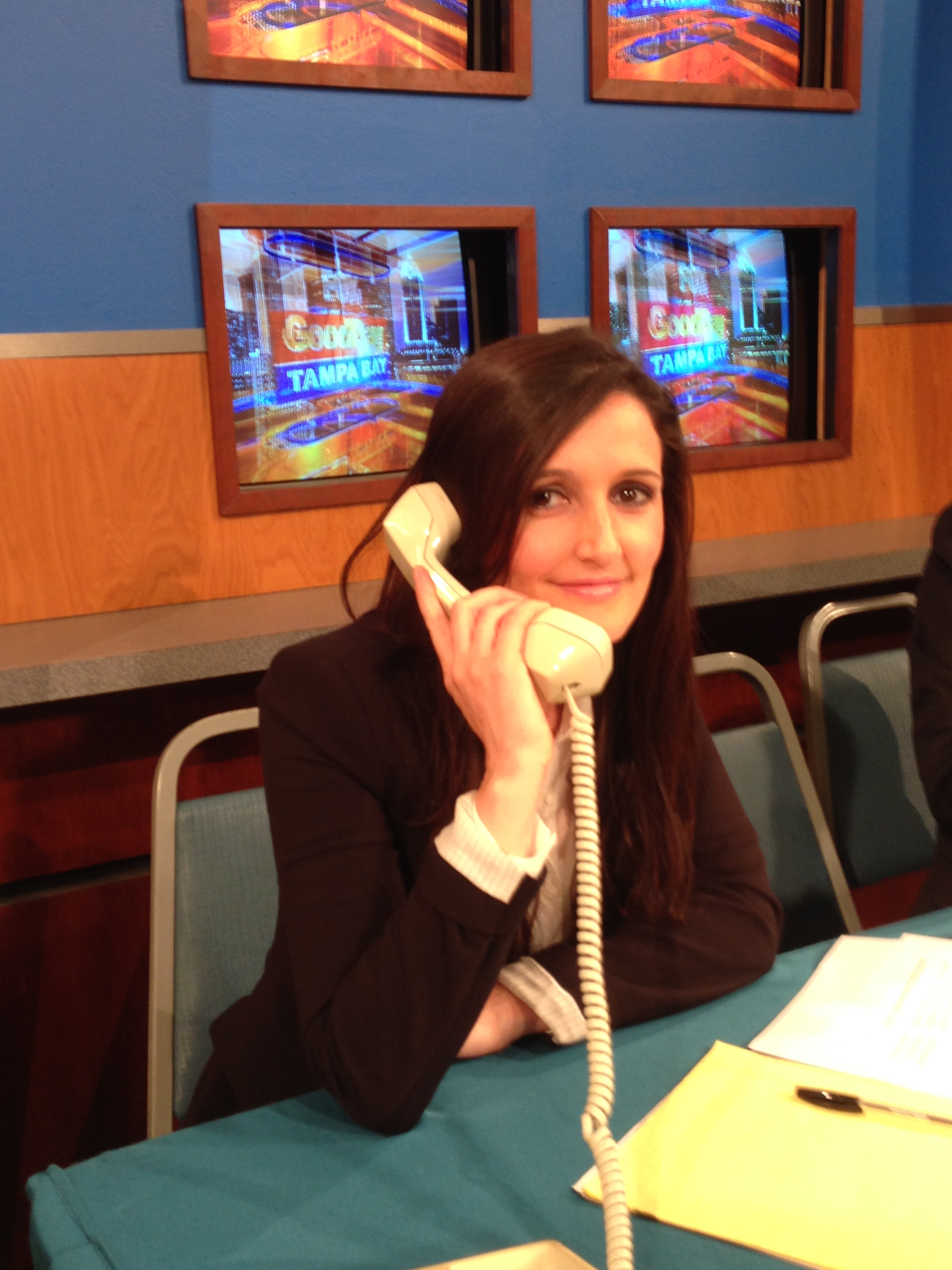 Answering phones during Good Day's 7 AM hour